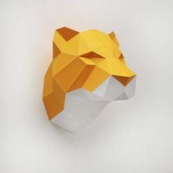 Trophée origami tigre orange