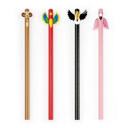 4 crayons de bois des tropiques