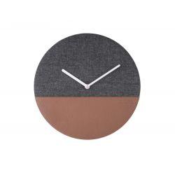 Horloge en cuir et jean noire - 30 cm