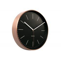 Horloge minimal noir
