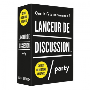 "Jeu ""Lanceur de discussion, party"""