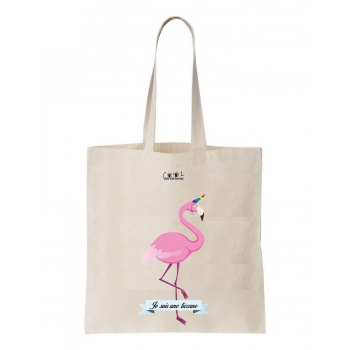 Tote bag - Flamant rose - Je suis une licorne