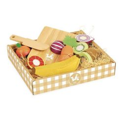 Fruits et légumes en bois à découper - Jour de marché Vilac