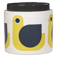 Pot en céramique Orla Kiely tons jaunes oiseau