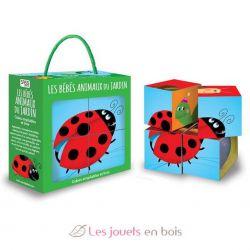 4 cubes et livre - Les bébés animaux du jardin