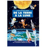 Livre et puzzle - Voyage, découvre, explore - De la terre à la lune
