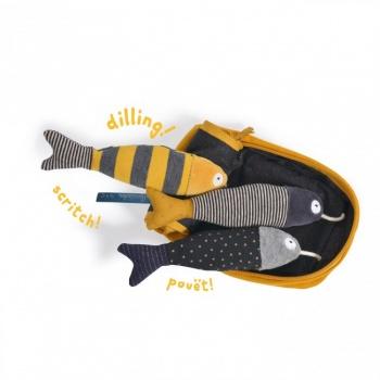 Boîte à sardines d'activités les moustaches Moulin Roty