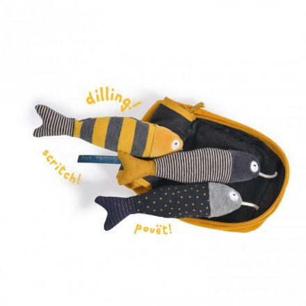 Boîte à sardines d'activités les moustaches