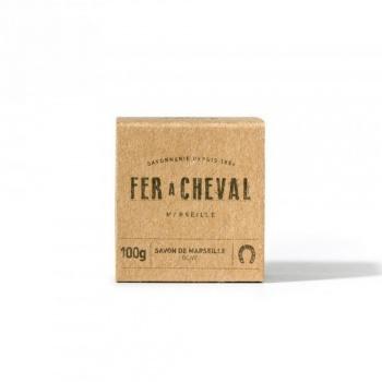 Petit savon de Marseille Brut cube de 100g olive Fer à Cheval