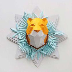 Trophée origami tigre orange Assembli