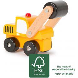 Camion de chantier à rouleau
