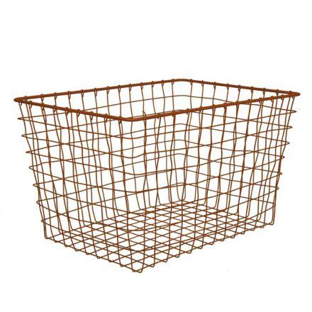 Grand panier cuivre 40 x 28 x 25 cm