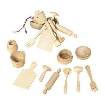 Miniatures en bois de hêtre pour maison de poupées