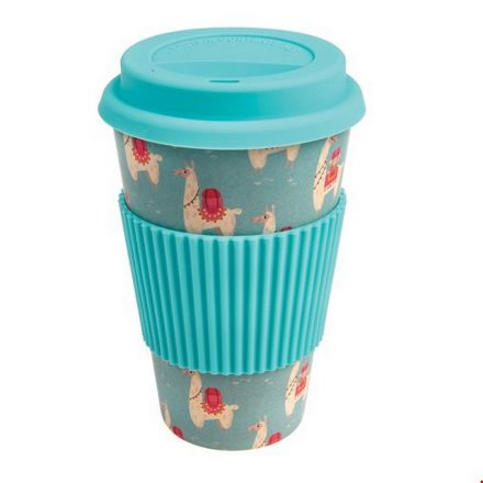 Travel mug lama en bambou