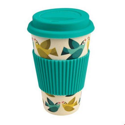 Travel mug oiseaux en bambou