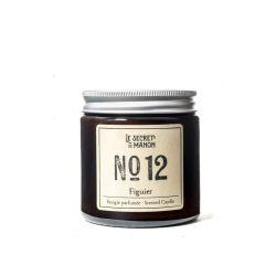 Bougie parfumée 30 heures - Le figuier - Numéro 12 Le secret de Manon