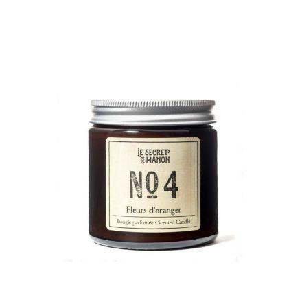 Bougie parfumée 30 heures - Fleurs d'oranger - Numéro 4 Le secret de Manon