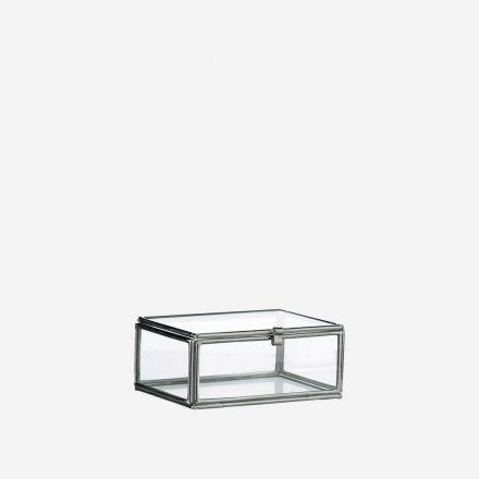 Petite vitrine bords argentés 6 x 3,5 x 8,8 cm Madam Stoltz