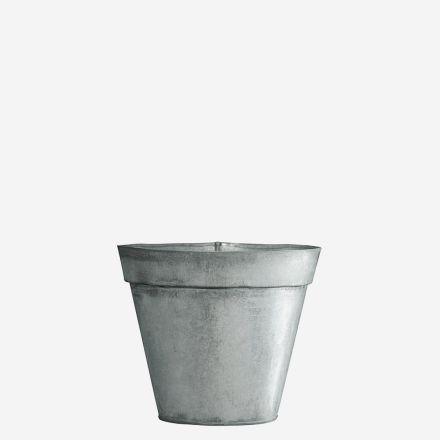 Pot à plante rond - Zinc