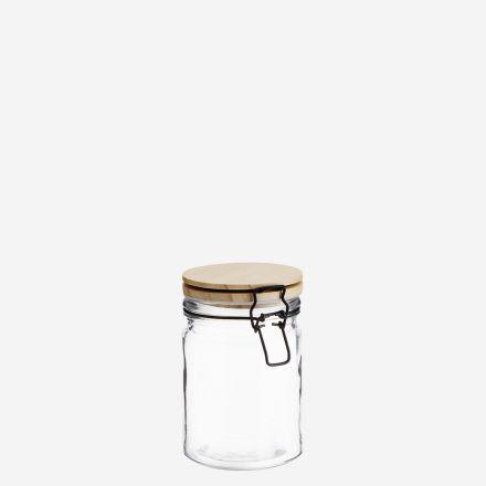 Pot à conserve en verre - Couvercle en bois - Madam Stoltz