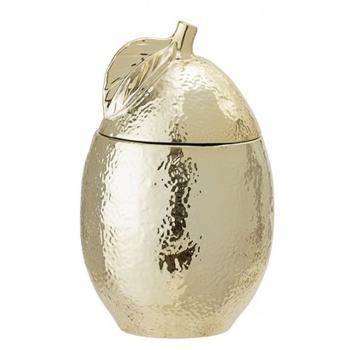 Pot en forme de poire avec couvercle - Doré