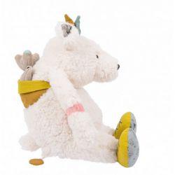 Poupée musique ours blanc - Pom - Le voyage d'Olga