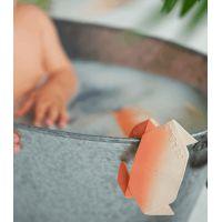 Bracelet en latex d'hévéa - Anneau de dentition - Crabe Origami H2O - Oli & Carol