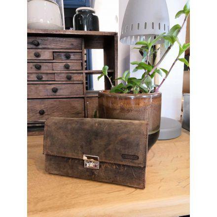 Portefeuille en cuir à clip - Oregon - 17.5 x 10 cm