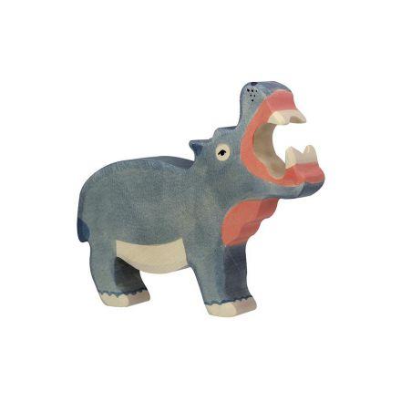 Animal en bois - Holztiger - Hippopotame