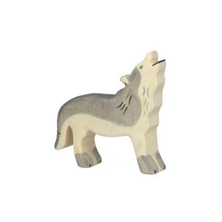 Animal en bois - Holztiger - Loup
