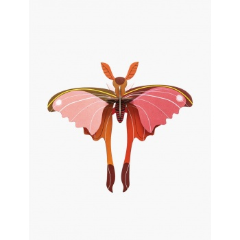 Papillon rose en 3D - Comet butterfly - Studio Roof