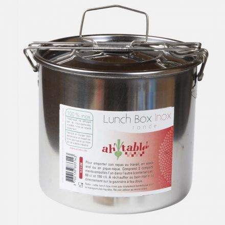 Lunch box en inox ovale