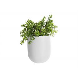 Pot à fleurs mural blanc