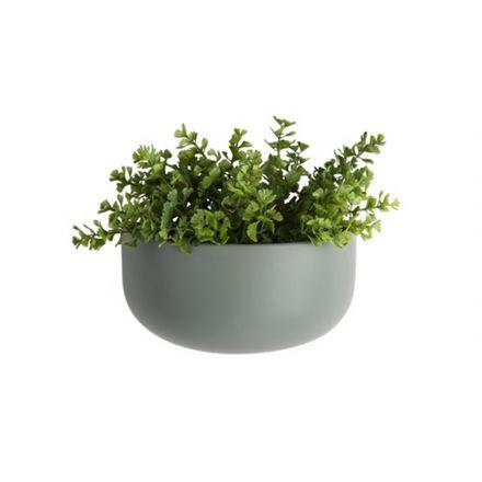 Pot de fleurs à suspendre gris en céramique