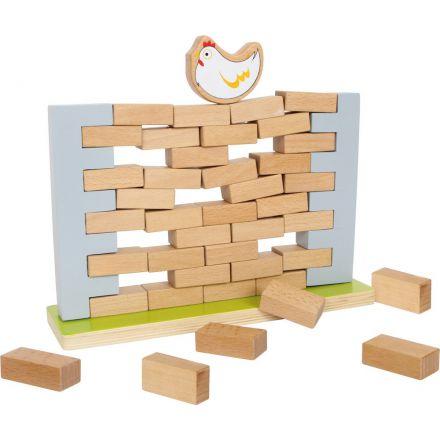 Mur bancal de poule en bois