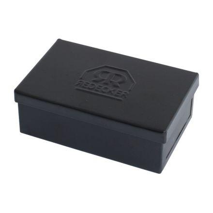 Boîte à savon 9 x 5,5 x 3 cm rectangulaire noire Redecker