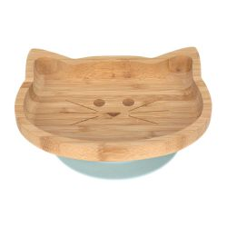 Assiette en bambou ventouse - Little Chums Chat Lassig