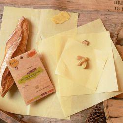 Tissu 33 x 36 cm réutilisable enduit de cire d'abeille Apifilm L