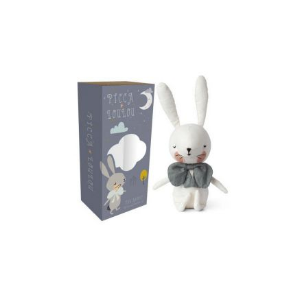 Peluche lapin blanc 18 cm Picca Loulou