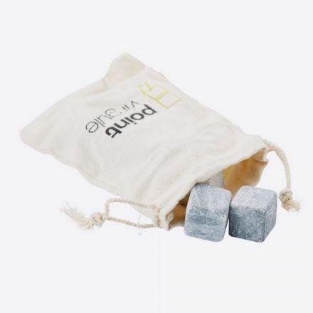 Set de 9 glaçons en pierre avec pochette