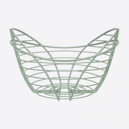 Grand panier laque poudrée - Vert menthe - 31 x 29.5 x 19 cm