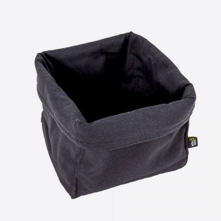 Corbeille à pain noir - Point virgule - 20 x 20 x 20 cm
