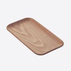 Petit plateau à service rectangulaire - Point virgule - Noix - 22 x 12 cm