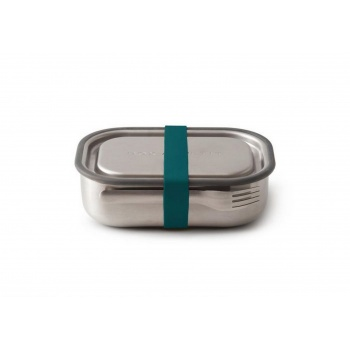 Lunch box inox avec fourchette - Elastique Bleu Black Blum