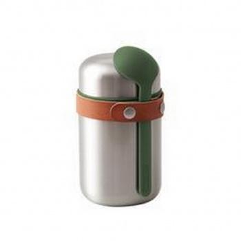 Boîte à repas isotherme inox et cuillère - Food flask - 400 ml Black Blum