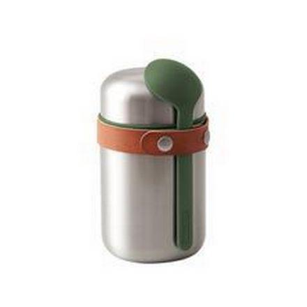 Boîte à repas isotherme et cuillère - Food flask - 400 ml Black Blum