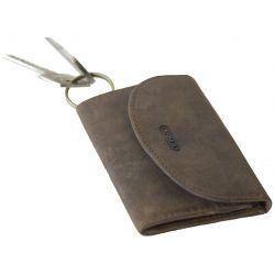 Portefeuille en cuir à bouton - Oregon - 12 x 7 cm