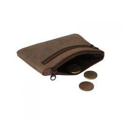 Porte monnaie en cuir - Oregon - 8 x 11 cm