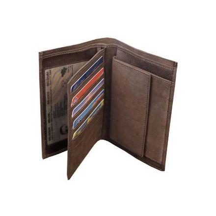 Portefeuille en cuir avec poche avant - Oregon - 14 x 10.5 cm