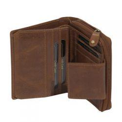 Porte feuille Oregon en cuir 12 x 10 cm